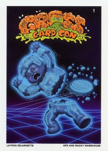 2018 GROSS CARD CON  GARBAGE PAIL KIDS Exclusive TRON Signed Card LAYRON