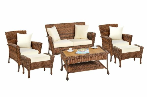 NEW W Unlimited Rustic Collection Outdoor Faux Sea Grass Garden Patio Sets