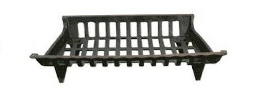 Pleasant Hearth Fireplace Cast Iron Fire Log Grate Black CG24