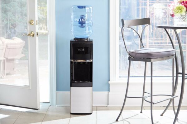 Hot And Cold Water Dispenser Cooler Heater 3 And 5 Gallon Bottles Compact Design