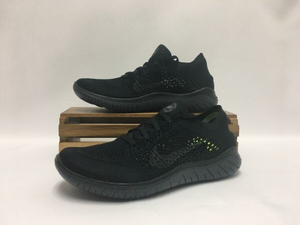 Nike Free RN Flyknit 2018 Running Shoes Black Anthracite 942838-002 Men's NEW
