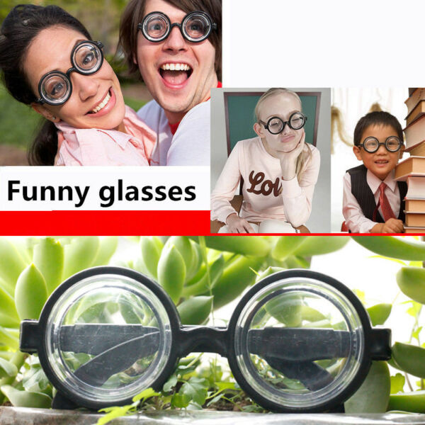 Round False Myopia Glasses Party Accessories Funny Costumes for Children Adults $6.99