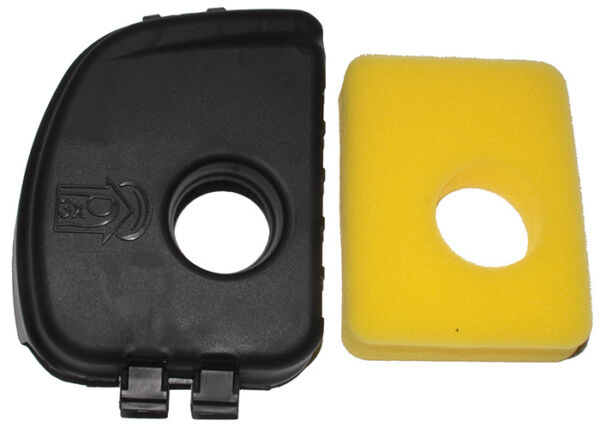 Air filter cover and air filter replaces Briggs & Stratton 595660 799579