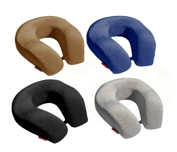 BookishBunny Memory Foam Large U Shape Travel Neck Pillow Airplane Car Cushion