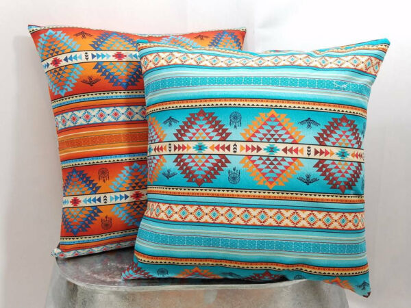 Terracotta Tucson Southwest Aztec dream catcher cotton pillow cover