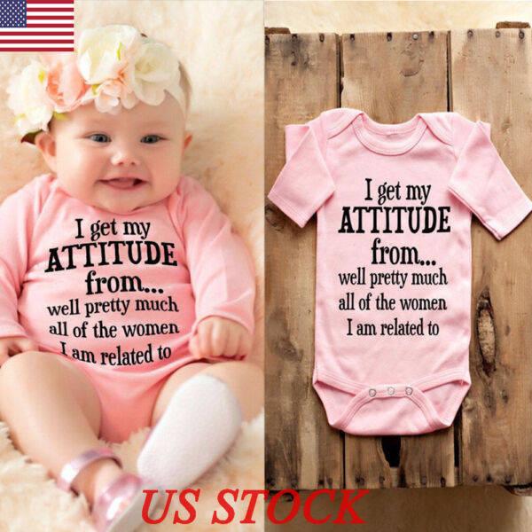 Newborn Baby Girl Long Sleeve Romper Bodysuit Jumpsuit Outfits Sunsuit Clothes