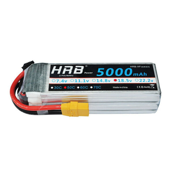 HRB LiPo Battery 5S 18.5V 5000mAh 50C 100C for RC Helicopter Car Drone Boat XT90