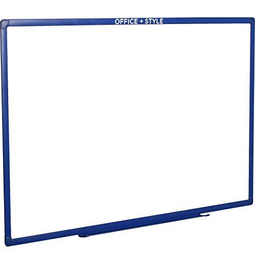 Large Magnetic Dry Erase Board Wall Mounted, Blue. By Office Style.