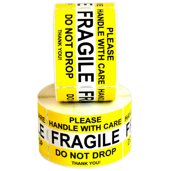 FRAGILE Please Handle With Care Do Not Drop Label Stickers 2quot; x 3quot; High Quality