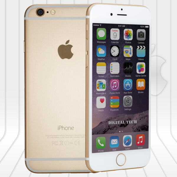 Apple Iphone 6 16GB  FACTORY UNLOCKED PHONE 4G LTE  IOS 9.4 8.0MP Gold