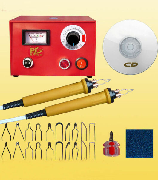 110V Wood Crafts Multifunction Pyrography Machine Heating Wire Pen Kit 50W