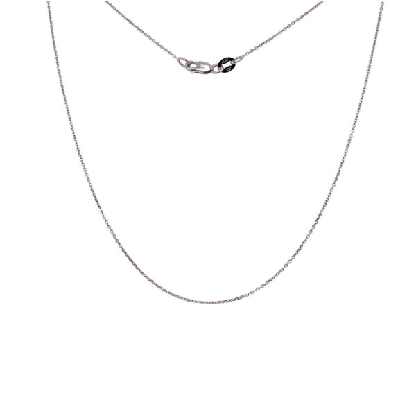 14k Gold Necklace Rolo Diamond Cut White Gold Chain 16 18 20 Inches 0.5MM $87.99