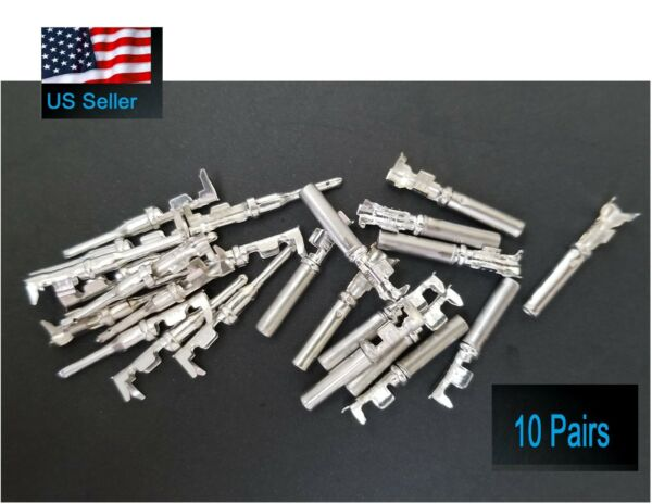 10 pairs Deutsch DT Series  pin Connector Male & Female 20 pcs Terminals metal