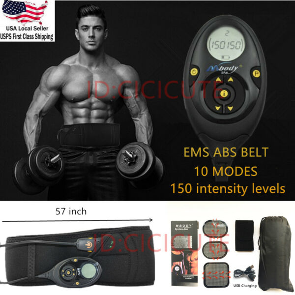 Pro EMS Abdominal Muscle Training Gear Toner-Core Toning ABS Fit Workout Belt