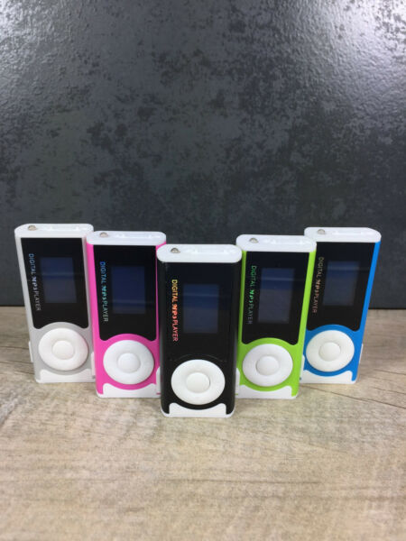 MP3 Player mit Display und Clip Funktion Lampe Speaker Micro SD bis 32GB WOW!!!