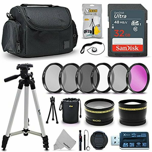 Professional 58mm Lens Accessories Bundle Kit for Canon Rebel T7 T7i T6 T6i T6s