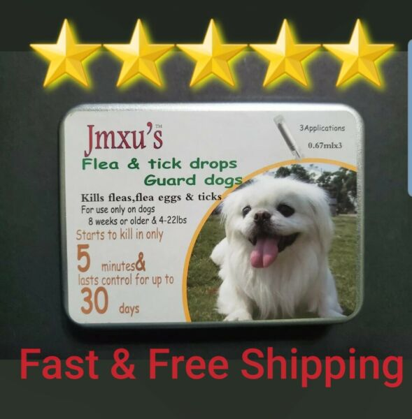 JmXUS Fipronil Topical Flea Tick Control Treatment Drops For Dogspuppies 4-22