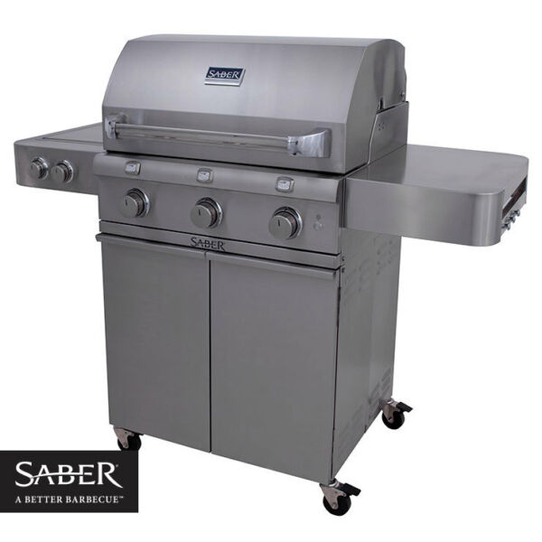 Saber 500 Propane Stainless Grill On Cart