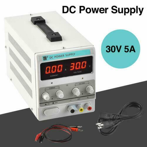 30V 5A DC Power Supply Precision Variable Digital Adjustable 110V