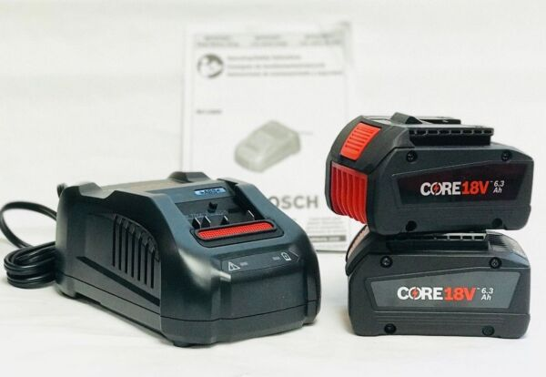 Bosch CORE18V 6.3 Ah Lithium-Ion Starter Kit with 2 Batteries GXS18V02N24 New