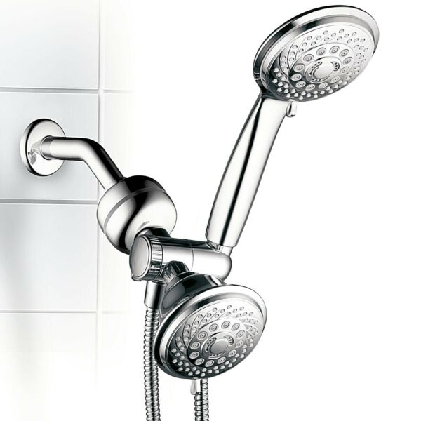 HotelSpa Multi-Setting Shower Head Combo with 3-Stage Shower Filter