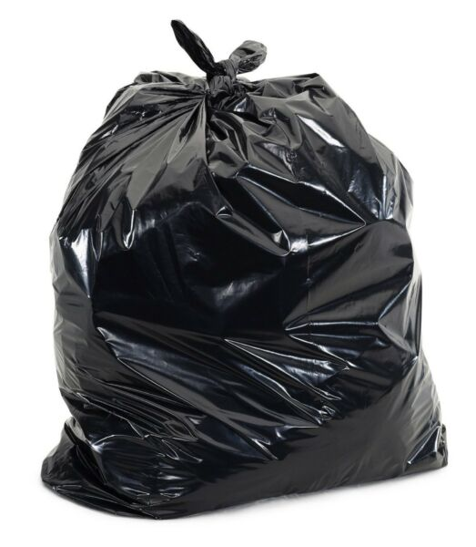 50 Large 55 Gallon Commercial Trash Can Bags Heavy Garbage Duty Yard 1.5 Mil