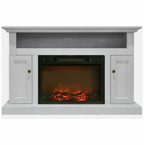 Sorrento Electric Fireplace with 1500W Log Insert and 47 In. Stand