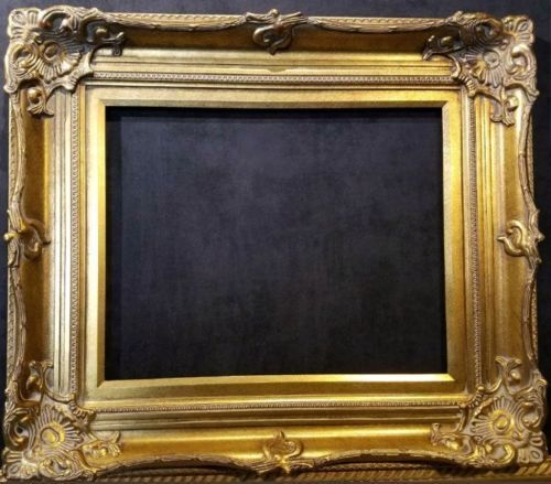 5quot; WIDE Antique Gold Ornate Victoria Baroque Wood Picture Frame 801G