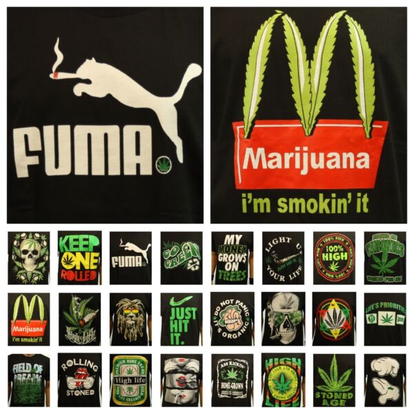 Fashion Graphic T Shirt Weed Marijuana Mexico Crew Neck Printed Hipster Funny $13.99