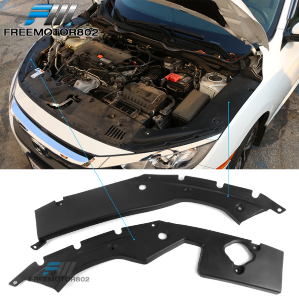 Fits 16-20 Honda Civic 10TH X GEN Engine Bay Side Panel Covers Long Version