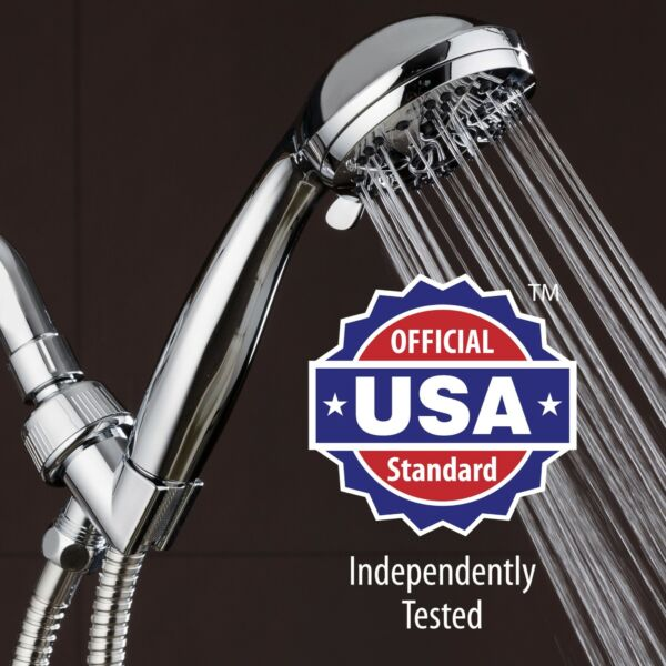 AquaDance 3312 High Pressure 3.5quot; Chrome Face Hand Shower with 6 Settings