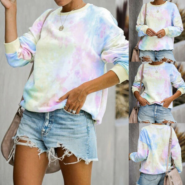 Women's Loose Long Sleeve Casual Blouse Shirt Tunic Tops Fashion Blouse Pullover