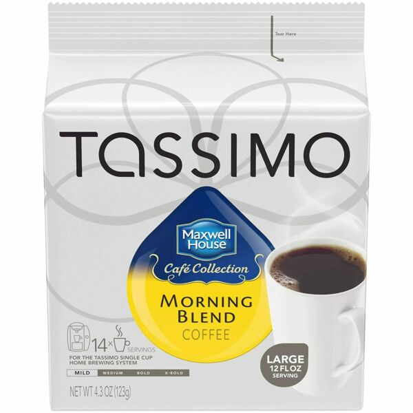 Maxwell House Morning Blend Coffee Mild Roast T-Discs for Tassimo Brewing M...