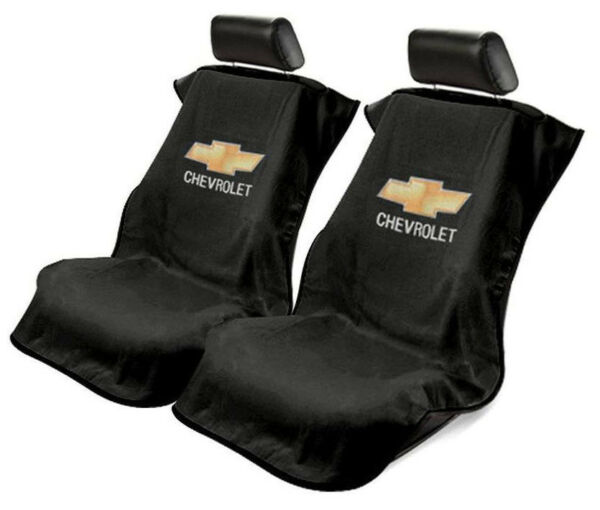 Pair (2) Universal Black Seat Armour Cover Protectors For Chevrolet Cars Trucks