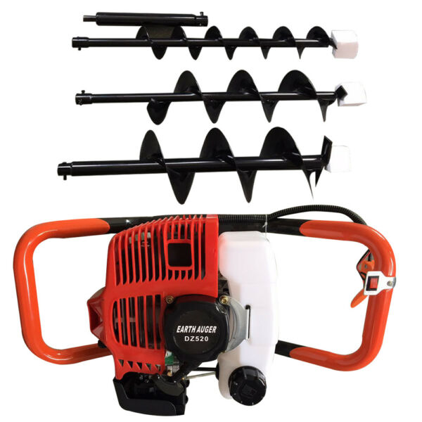 2.3HP Gas Powered Post Hole Digger+4'' 6'' 8