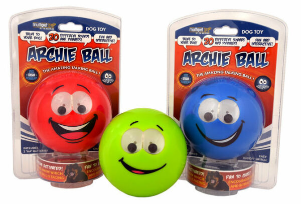 Multipet Talking Archie Ball Dog Toy