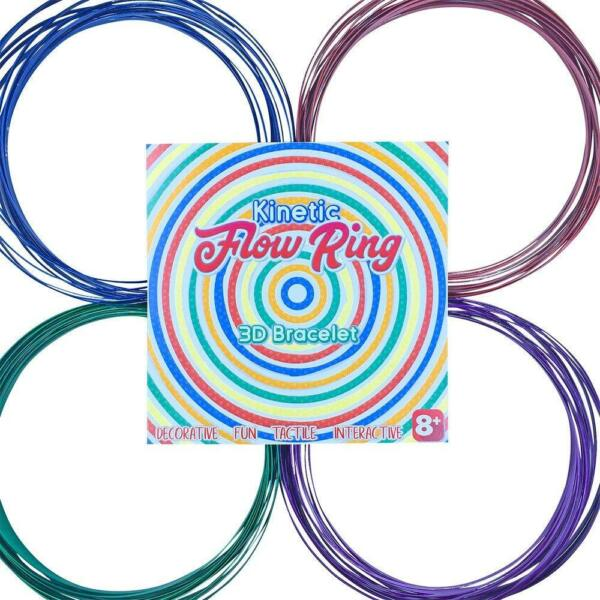 Magic Flow Ring  7 Colors  3D Kinetic Spring  Interactive Metal Infinity Ring