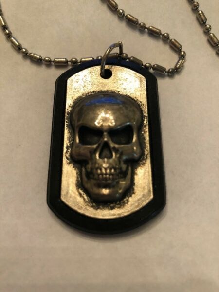 Skull Dog tag With Chain $19.95