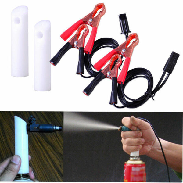 Auto Car Fuel Injector Flush Cleaner Adapter DIY Universal Cleaning Tool Kit Set