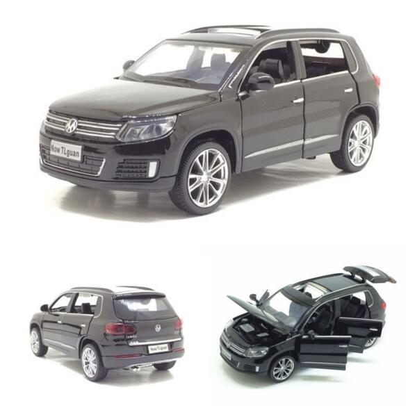 VW Volkswagen Tiguan Simulation Car Model Pull Back Metal SUV Alloy For Kids $34.30
