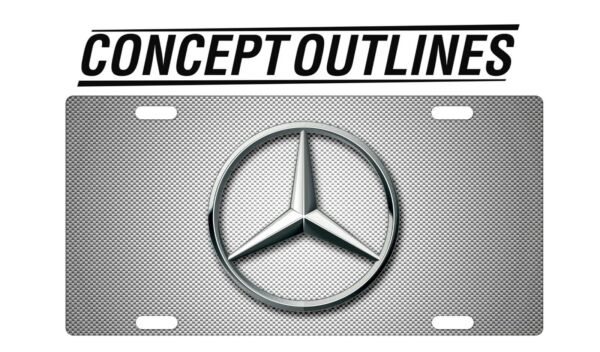 Mercedes Benz Premium Aluminium License Plate Tag Custom For Car Room TMCW