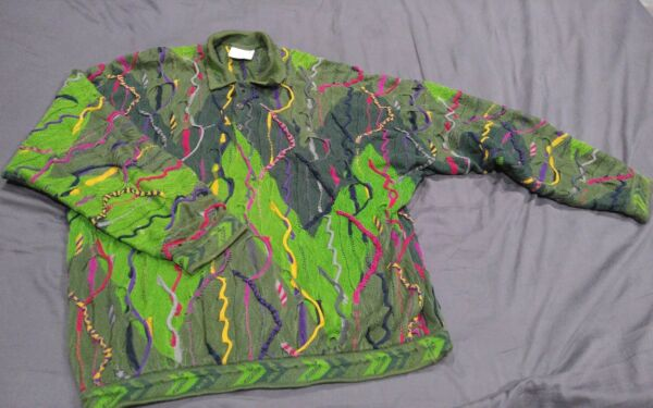 Vtg 90#x27;s XL Coogi Sweater EXC Condition 100% Mercerized Cotton Cosby Ugly Wild $225.00