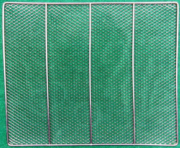 Chrome Plated Rectangular Wire Mesh Rack Grill Grate Clean 14.75quot; x 12.25quot;