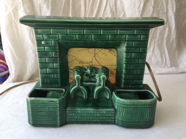 Antique Decorative Lamp 1950S Fireplace