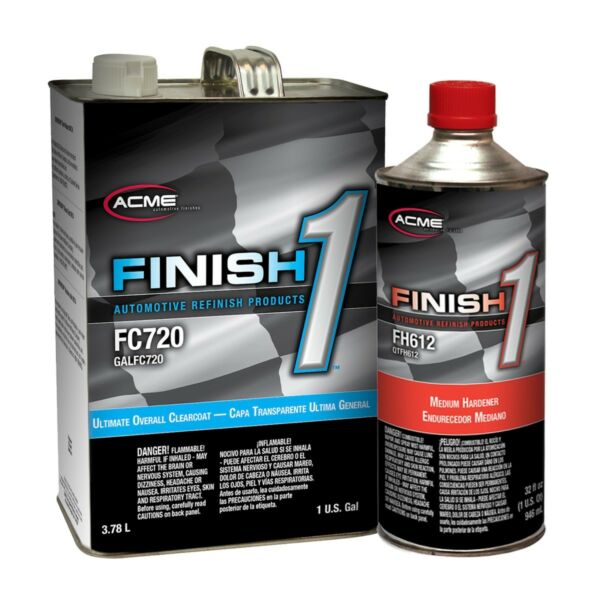 Acme FC720 1 Ultimate Overall Clearcoat Gallon Kit w Finish 1 Medium Hardener $82.21
