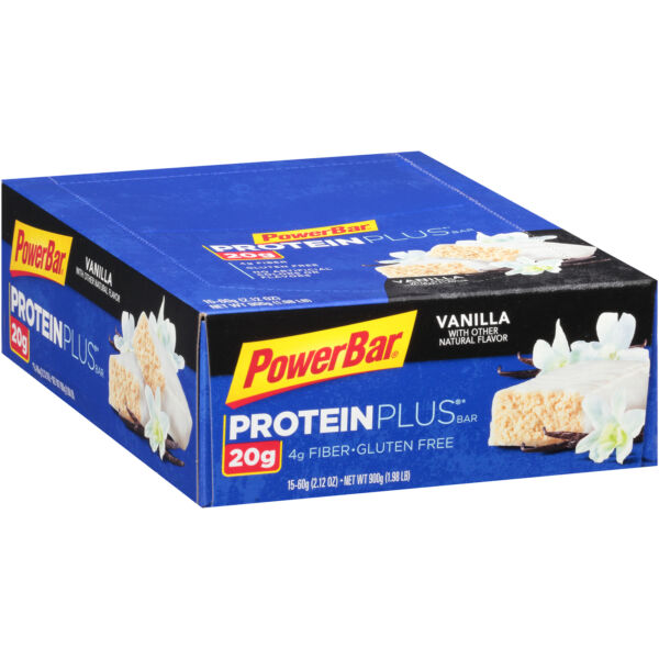 PowerBar Protein Plus Vanilla Bar 2.12 Ounce -- 120 per case.