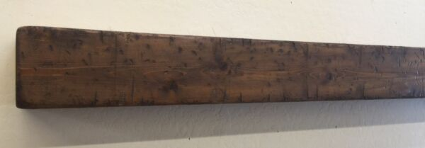 Primitive Fireplace Mantle Wood Beam Mantle Rustic Mantle 48 inches