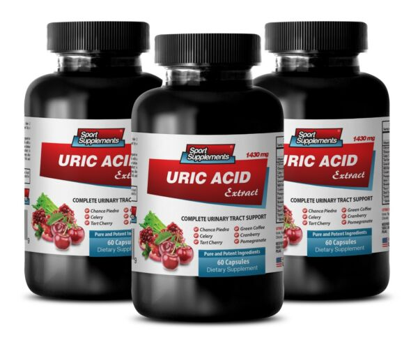 Gout Relief - Gout Support - Uric Acid Formula 1430mg 3b - Advanced Antioxidant