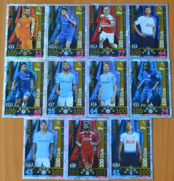 2018- 19 MATCH ATTAX  LIMITED EDITION & HUNDRED ( 100 ) CLUB CARDS.