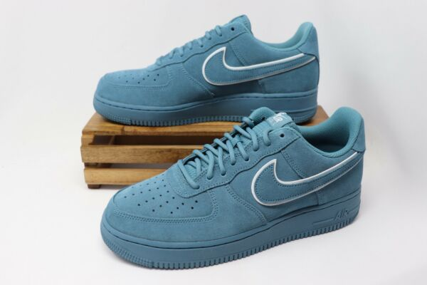 Nike Air Force 1 '07 LV8 Suede Casual Shoes Noise Aqua AA1117-400 Men's NEW